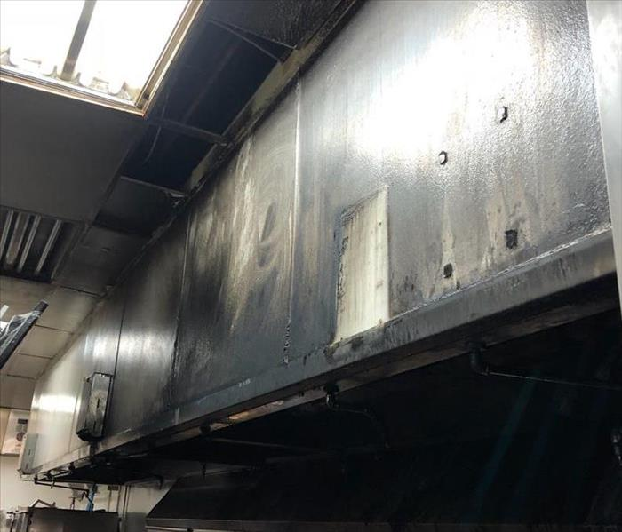How to clean a fire in a commercial kitchen?